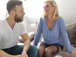 My Best Friend's German Mom with Big Clit Let someone have Me Cum almost Say no to Pussy