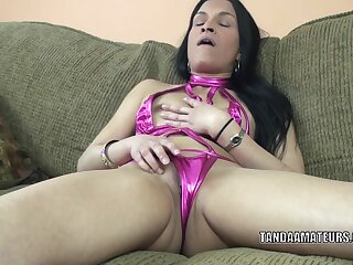 Exotic mommy I'd like to fuck Naomi Shah is playing apropos her ravishing muff