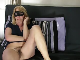 Grey golden-haired shows curly wet crack