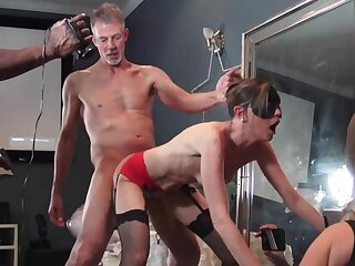 MILFs enjoying cocks in homemade group motion picture