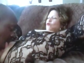 Hot grandma squirting while get clit licked added to fingered