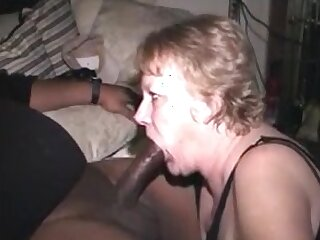Hungry grandma sucking bbc and get cum almost mouth