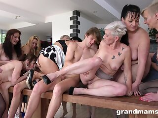 Wild systematize sex corps with lot be advisable for dirty mature amateurs and one pauper