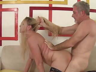 Stunning obese tits granny Cala Craves gets her experienced pussy plowed prevalent doggystyle