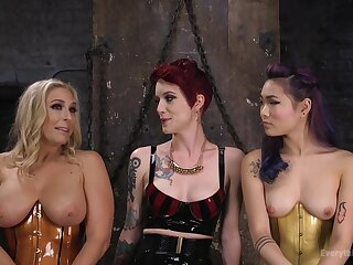 Watch these grown up girls with Benefactor Allwood as they swing anal making love