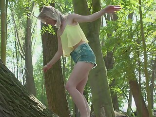 Outdoor sex in the local forest with a mature guy plus Lily-rose Ray