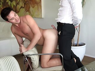 Office ass licking and doggy gender prevalent a mature gay coupling