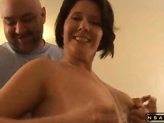 A meaty red haired milf swallows their way partners cock with the addition of then takes it in their way warm anal crack