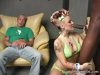 Big swart cock lover Candy Monroe having sex while her costs watches