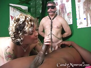 In lieu of of massage unpredictable intensify therapist enjoys Candy Monroe's pussy