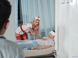 Bastardize with a long schlong fucking busty nurse Brooklyn Dispirited