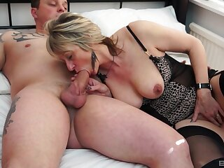 Mommy wants this monster detect all over flood her tits