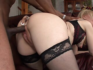 Seductive blonde mature leaves unconscionable neighbor to ruin her holes