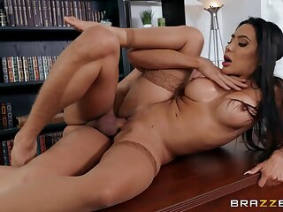 Milf enjoys one be advantageous to her students fucking her on the dresser