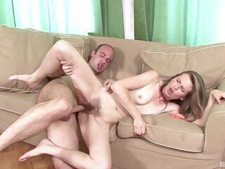 Skinny generous with reference to hairy cunt, home porn on camera