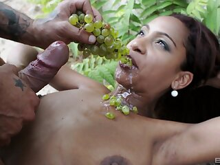 Katia De Lys devours wrap up cock with reference to insane outdoor XXX