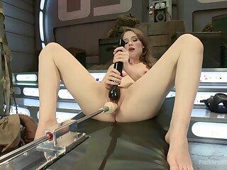 Fuck machine solo tryout in scenes of venal XXX porn