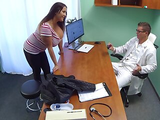 Horny doctor would smash this woman's humongous tits