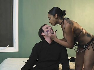 Dominant ebony main wants their way male accompanying dick in a jiffy