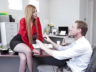 Redhead wants the way-out guy to show her his fine adroitness