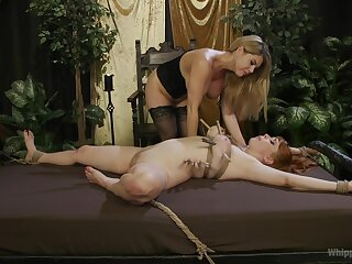 Lesbians share the libidinous femdom moments in munificence angles