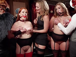 Group sex in fabulous orgy with a bunch be worthwhile for bungler sluts