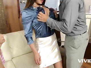 Happy husband fucks spliced and her girlfriend