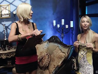 Amazing lesbian sex with pussy drilling with sexy Puma Swede