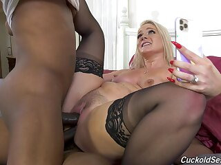 Black studs double penetrate Lisey Sweet, and it's perfection