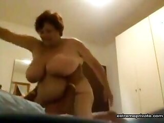 How older, how wilder. My busty and chubby wife enjoys sex as never before.