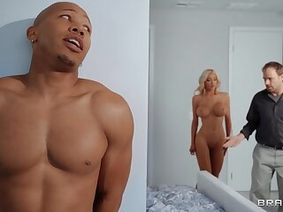 Big ass cougar ends up drilled and jizzed by a black stallion