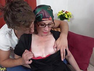 Mini-Rosebud ma ass screwing with step grandson