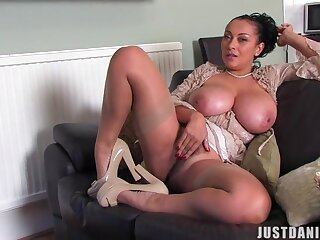 Amateur homemade video of busty Danica Collins having solo fun
