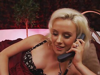 Festival MILF House of Lords dirty on the phone and masturbates at the same time