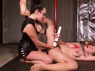 Affianced slavegirl is tortured unconnected with that perverted lesbian thistledown