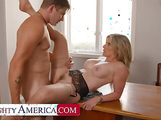 NAUGHTYAMERICA Cory Chase gives student tips on making a women's pussy wet blanket wet
